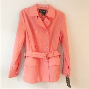 Fuda • Short • Trench Coat • NWT • Sz Sm